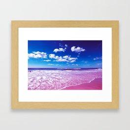Cobalt Beach Framed Art Print