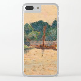 ALFRED WILLIAM FINCH, COASTAL VIEW. Clear iPhone Case