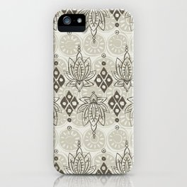 lotus diamond linen iPhone Case
