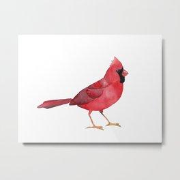 Watercolor Cardinal Metal Print