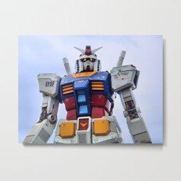Gundam Stare Metal Print