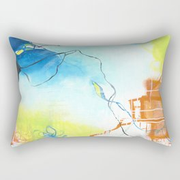 The Dreaming - Square Abstract Expressionism Rectangular Pillow