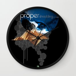 Proper Shredding Wall Clock