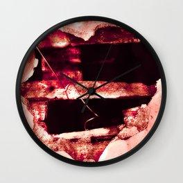Hole Heart 1d Bocea_Cornered Wall Clock