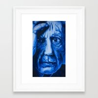 pablo picasso Framed Art Prints featuring Pablo Picasso  by David Burdis