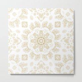 Golden floral ornament Metal Print