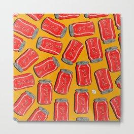 Lotta Cans! (Yellow Bg) Metal Print