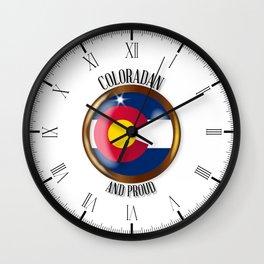 Colorado Proud Flag Button Wall Clock