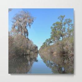 Watercolor Landscape, Okefenokee Swamp 03, Florida Metal Print
