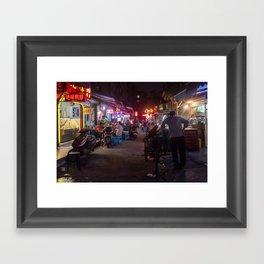 Shanghai Streets Framed Art Print