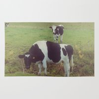cows Area & Throw Rugs featuring Rustic Cows by Olivia Joy St.Claire - Modern Nature / T