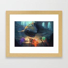 Jellyfish Party Framed Art Print