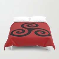 teen wolf Duvet Covers featuring Triskele by AlixInsanity