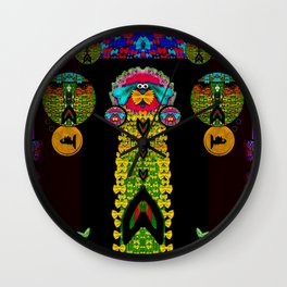 Mermaids with tail in the big blue Wall Clock