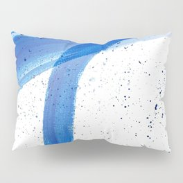 Abstract Acrylic Painting Blues Series 4 Pillow Sham