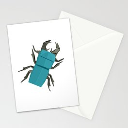 Origami Stag Beetle Stationery Cards