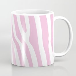 Baby Pink Zebra Stripes Coffee Mug