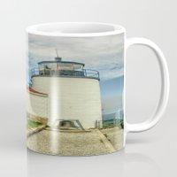 maine Mugs featuring Maine Lighthouse by Raymond Earley