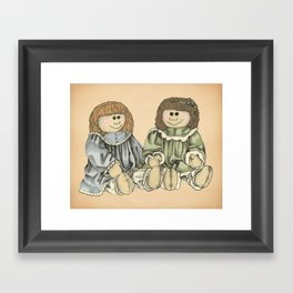BFFs Framed Art Print