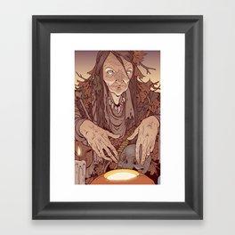 The Bog Witch Framed Art Print