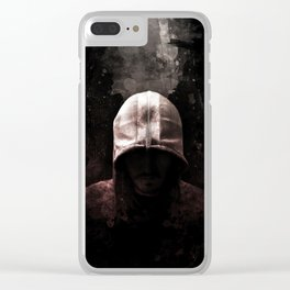 Modern Assassin Hood - Color Clear iPhone Case