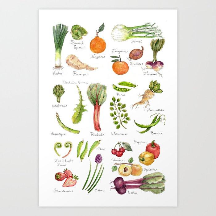 Calendar-January thru June Art Print