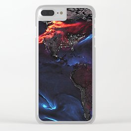Beauty of Pollution / Aerosol Earth - Western Part Clear iPhone Case