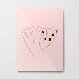 pink pinky promise Metal Print