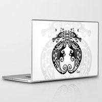 sea horse Laptop & iPad Skins featuring Sea Horse by ceceï