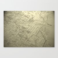 chicago map Canvas Prints featuring Chicago Map by Eric Strand