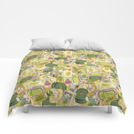Vintage Beauty Products Toss Comforters