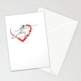 Swordsmanship Swordsman Training Fencing Heartbeat Sword Fighting Gift Stationery Cards