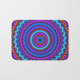 mandalas blue and violet -2- Bath Mat
