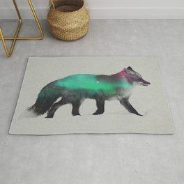 Fox In The Aurora Borealis Rug