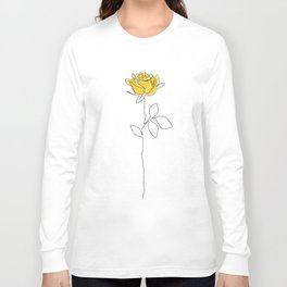 Lemon Rose Long Sleeve T-shirt