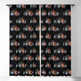 30's Street Rod with Classic Hot Rod Flames Cartoon Blackout Curtain