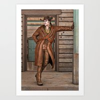 cowboy Art Prints featuring Cowboy by Design Windmill