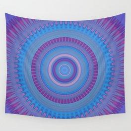 Electric Purple Blue Mandala Wall Tapestry