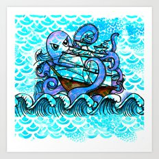Der be Kraken  Art Print