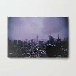 New York City // Retro 43 Metal Print