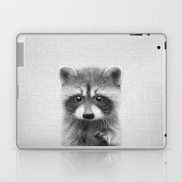 Raccoon - Black & White Laptop & iPad Skin