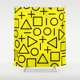 Memphis pattern 71 Shower Curtain