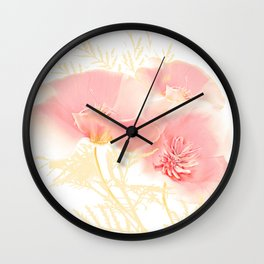Poppies(gentle) Wall Clock