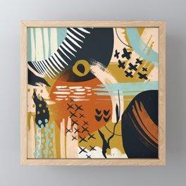 Fall season Framed Mini Art Print
