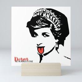 Princess Diana Tongue Art Mini Art Print