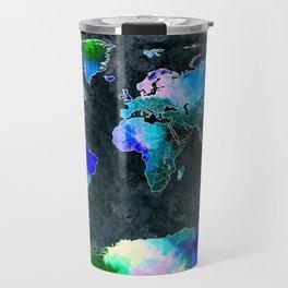 World Dark Grunge Travel Mug