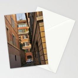 Big Buildings, Little Car - Rome, Italy Stationery Cards