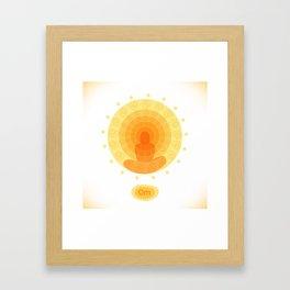 Shiny mandala Framed Art Print