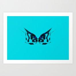 Kissing fish. Art Print