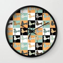Little Leggy Flowerbirds Wall Clock
